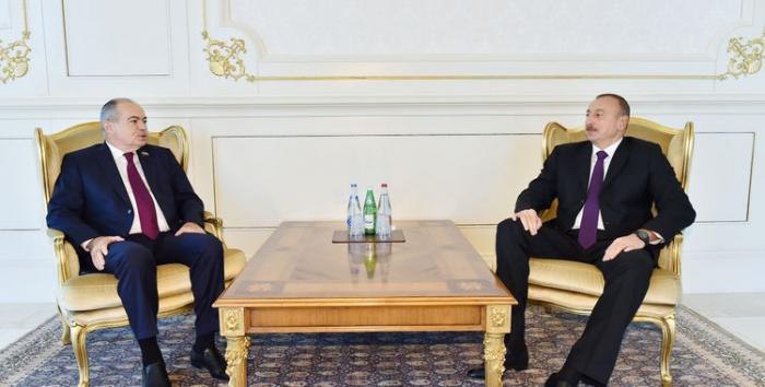 Ilyas Umakhanov congratulates Azerbaijani President Ilham Aliyev