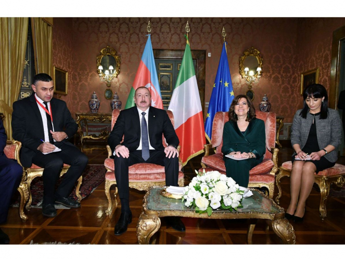 Azerbaijani president meets with president of Italian Senate