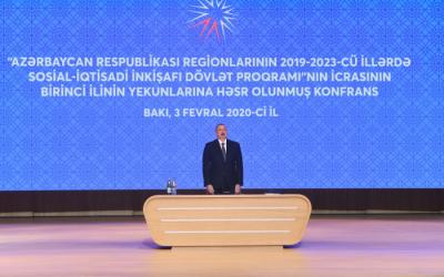 الرئيس الهام علييف يشارك في المؤتمر المكرس لنتائج السنة(تم التحديث)