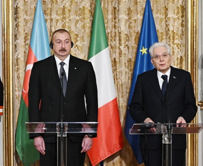 El presidente italiano: Azerbaiyán siempre puede contar con la amistad y el apoyo de Italia