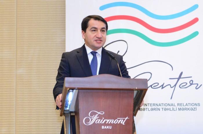 """""""Armeniens Lügen sind vollständig entlarvt""""  - Hikmet Hajiyev"""
