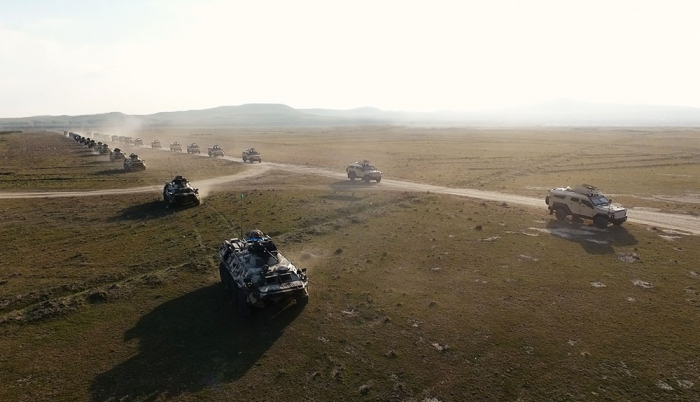 Azerbaijan: Troops involved in exercises move to operational areas -   VIDEO