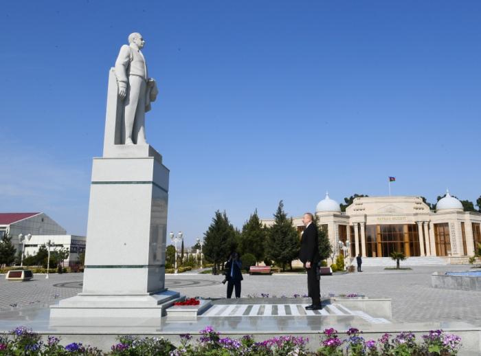 İlham Əliyev Goranboyda səfərdədir - FOTO