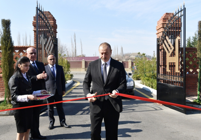Azerbaijani president attends several openings in Goranboy - UPDATED