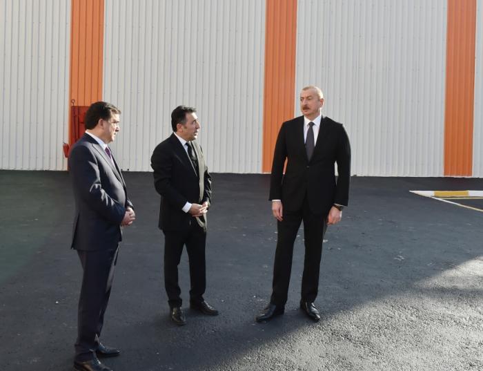 Qazaxda əhəng zavodunun açılışı olub - FOTOLAR (YENİLƏNİB)