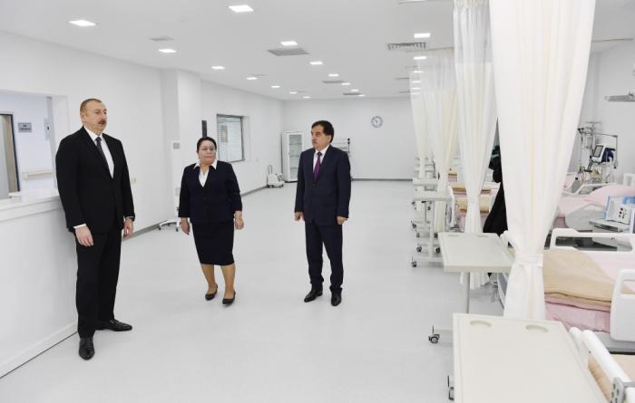 Qazax Rayon Mərkəzi Xəstəxanası istifadəyə verildi - FOTOLAR