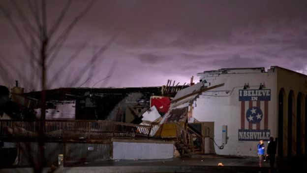 Deadly tornadoes kill nineteen in Nashville, Tennessee