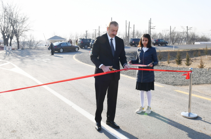 President Ilham Aliyev attends several openings inAghstafa - UPDATED