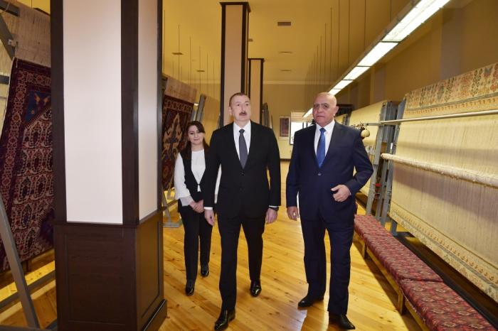 """Prezident """"Azərxalça""""nın Ağstafa filialında - FOTOLAR (YENİLƏNİB)"""