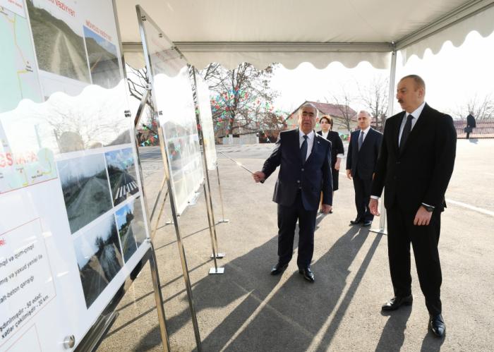 Yeni avtomobil yolu istifadəyə verildi - FOTOLAR (YENİLƏNİB)