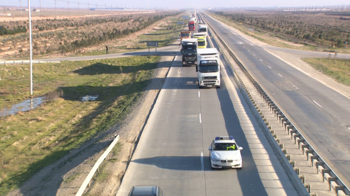 Azerbaijan secures its truck drivers with traffic police