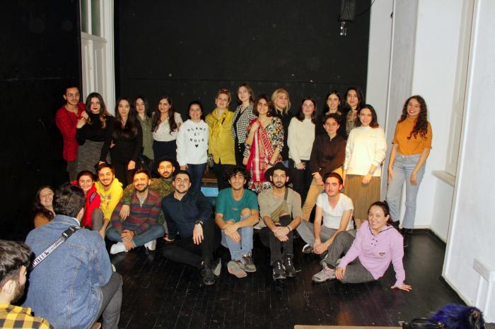 Bakou: Unthéâtre-forumorganisédans le cadre du projet «Si c