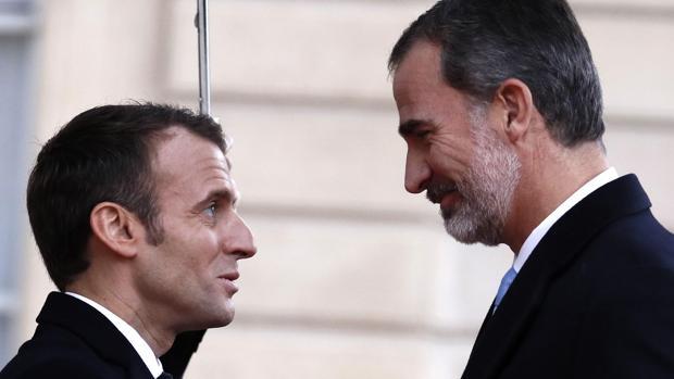 Macron recibe a los Reyes de España para conmemorar a las víctimas del terrorismo en recuerdo del 11-M
