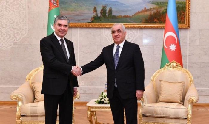 Azerbaijani PM meets with Turkmen President Berdimuhamedov