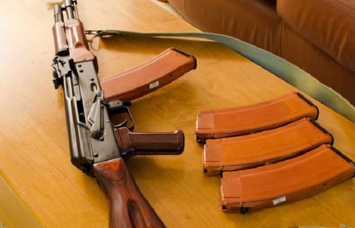 Ağstafada evdən silah-sursat tapıldı