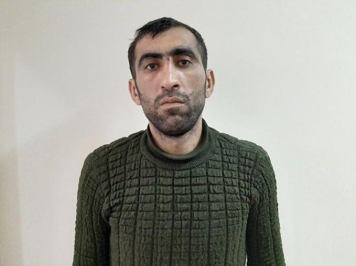 Polis soyğunçuluq edən şəxsi cinayət başında tutdu - FOTOLAR