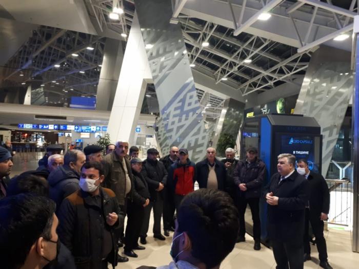 70 Azərbaycan vətəndaşı Minskdən Bakıya yola salındı