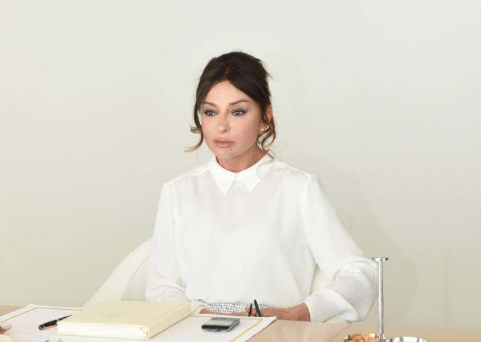 Mehriban Aliyeva  stellte ein Jahresgehalt zur Bekämpfung des Coronavirus zur Verfügung