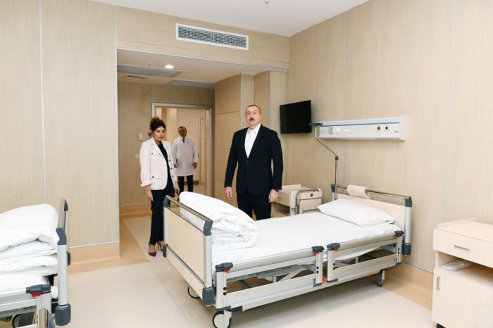 Azerbaijani president and first lady attend opening of new medical institution - PHOTOS