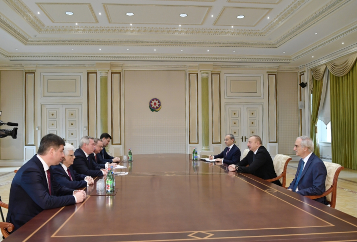 President Ilham Aliyev receives delegation led by governor of Russia's Rostov Region