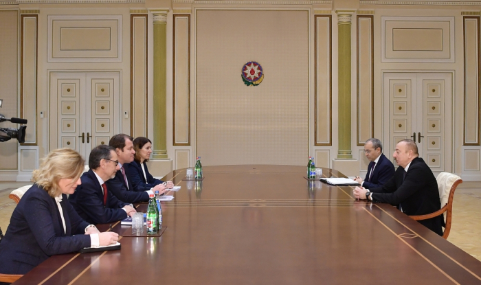 President Ilham Aliyev receives delegation of European Bank for Reconstruction and Development