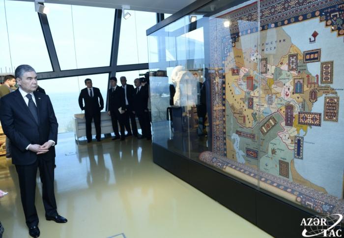 Turkmen president visits Carpet Museum in Baku