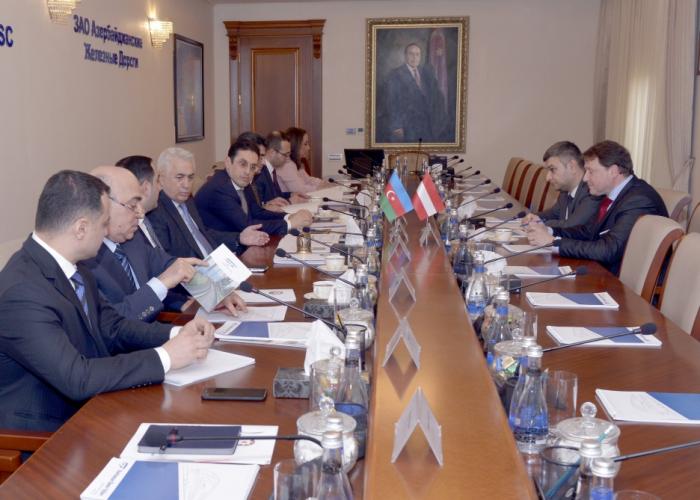 Azerbaijan Railways, Rail Cargo Austria discuss cooperation prospects