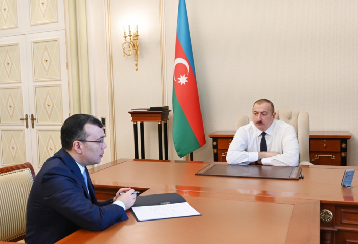 President Ilham Aliyev received Minister of Labor and Social Protection of Population Sahil Babayev
