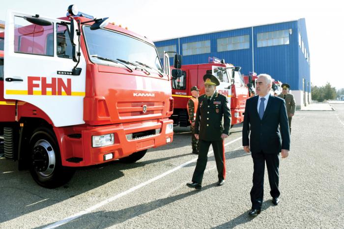 Naxçıvanda FHN-ə yeni avtomobillər verildi