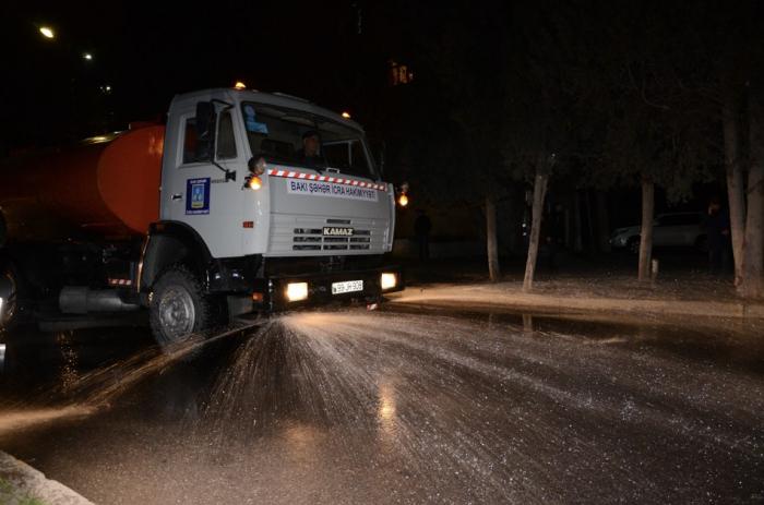 Straßen von Baku von Coronavirus weggespült -   FOTOS