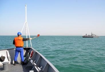 La Armada de Azerbaiyán realiza un ejercicio táctico