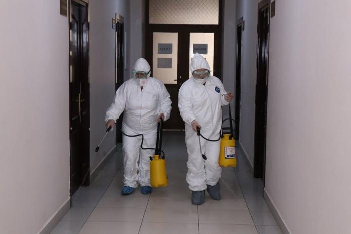 Texniki Universitetdə dezinfeksiya işləri aparılıb