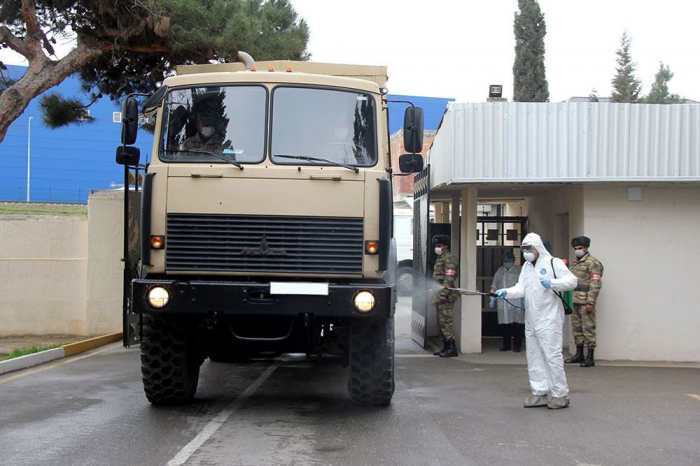 Azerbaijan Army takes preventive measures in connection with a coronavirus infection - VIDEO