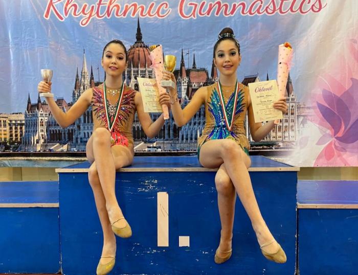 Azerbaijani twin sisters win gold and silver medals at international rhythmic gymnastics tournament