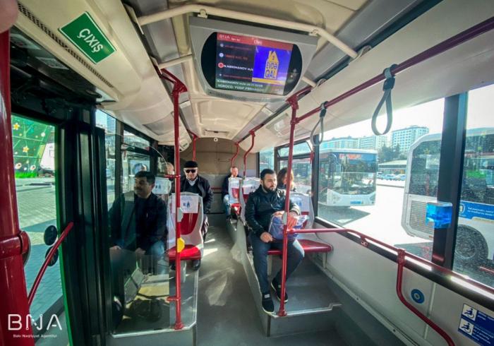 Avtobuslarda məsafənin gözlənilməsi qaydaları tətbiq edilir