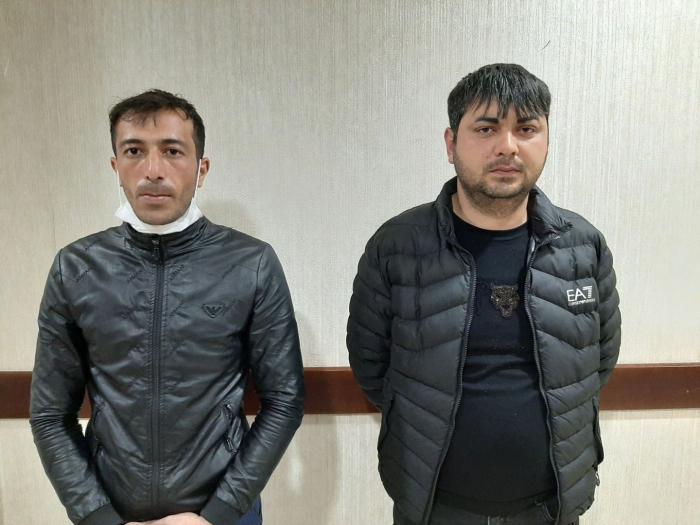 """Bakıya maşının """"baqaj""""ında gəldi, polis saxladı - FOTOLAR"""