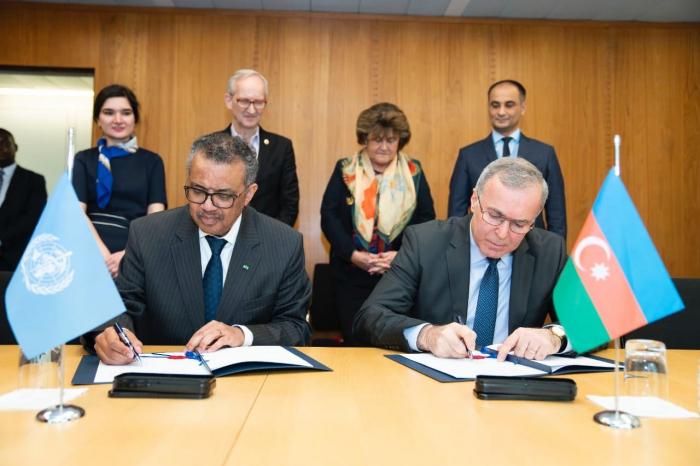 Azerbaijan, WHO ink Donor Agreement