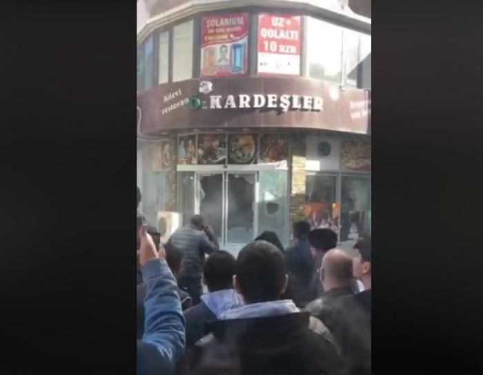 Bakıda kütləvi dava, restoran daş-qalaq edildi