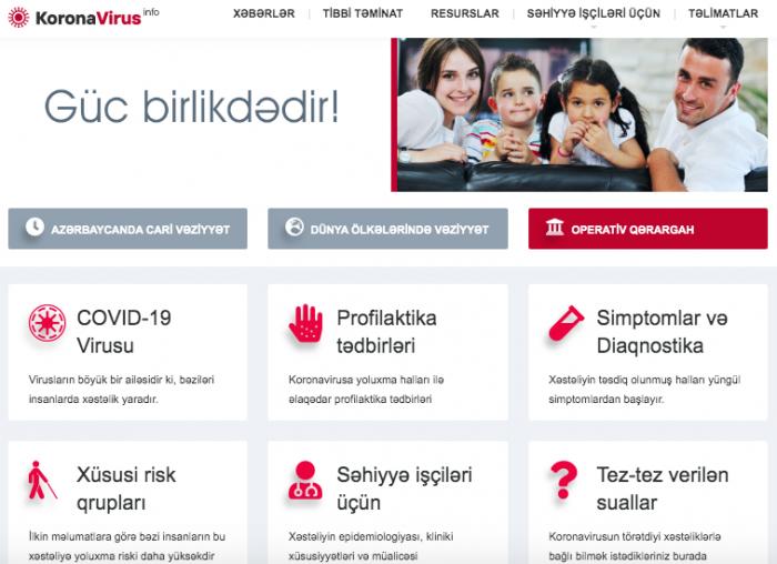 Azerbaijan launches KoronaViruswebsite