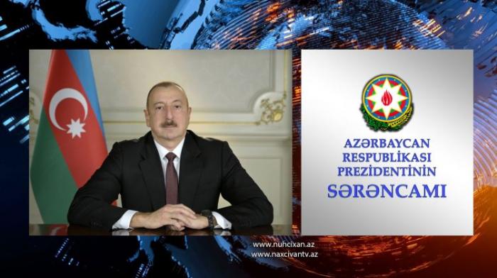 Prezident Naxçıvanın Qızıl Aypara Komitəsinin sədrini təltif edib