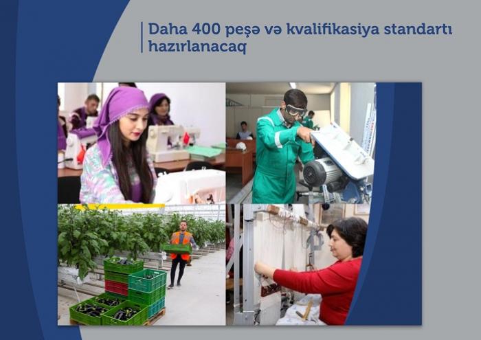 Daha 400 peşə və kvalifikasiya standartı hazırlanacaq