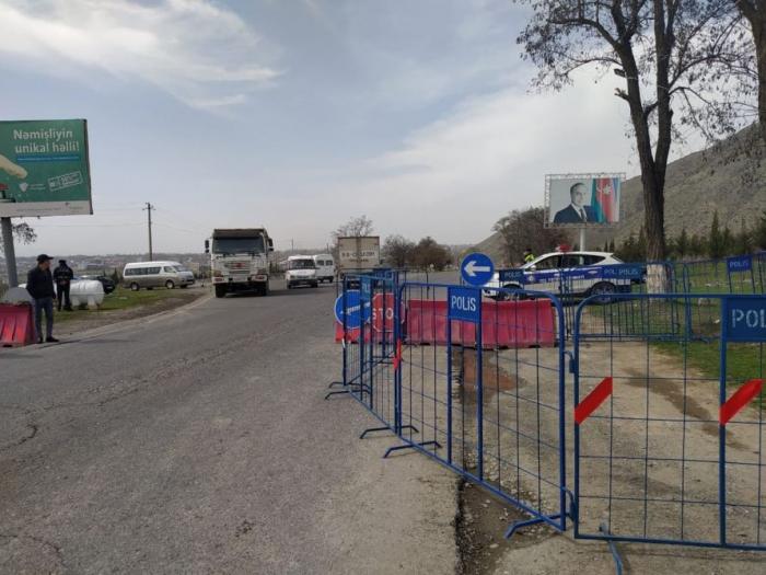 DİN: Şəkiyə giriş-çıxış dayandırıldı