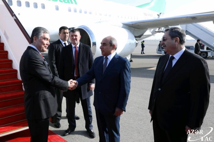 Türkmənistan Prezidenti Azərbaycana gəldi