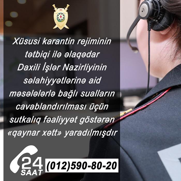 """DİN-də """"qaynar xətt"""" yaradıldı"""