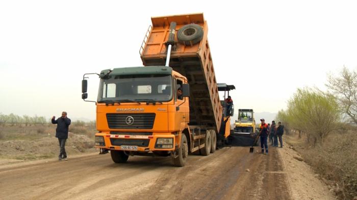 Kəndlərarası avtomobil yolu yenidən qurulur