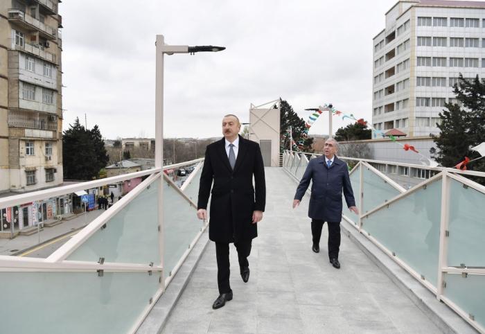 Prezident Bakı-Sumqayıt yolunda görülən işlərlə tanış olub - FOTOLAR (YENİLƏNİB)