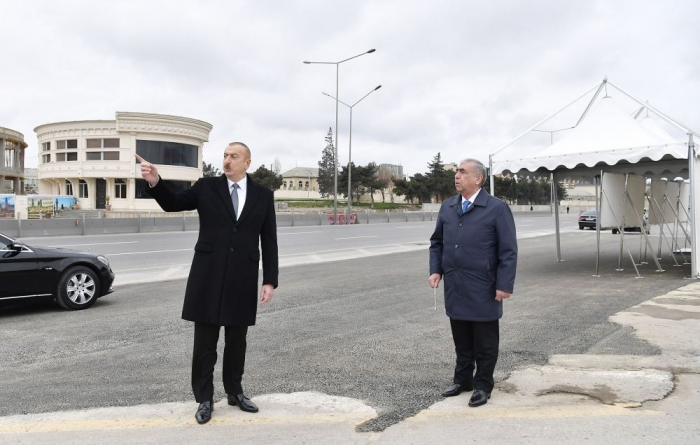 Ilham Aliyev: Baku-Sumgayit road and all interchanges must be put into operation within about two, maximum three months
