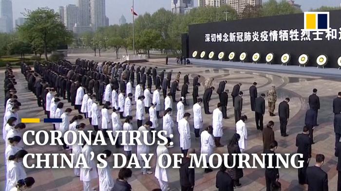 Staatstrauer in China für COVID-19-Opfer –   Video