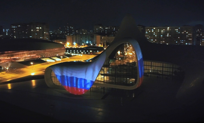 Heydar Aliyev Center supports Russia amid COVID-19 outbreak