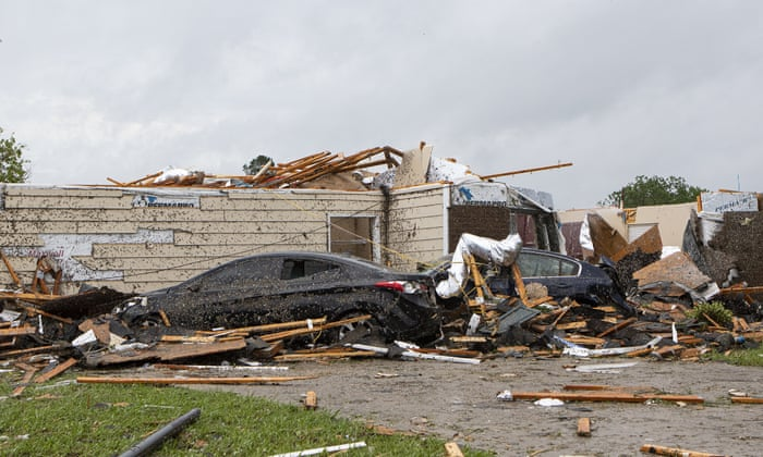 Tornadoes and storms hit US south as six killed in Mississippi